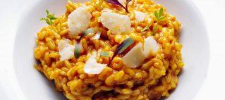 Risotto de Maratelli con sobrasada y queso azul